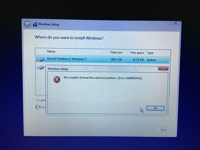 Error: Ox8004242d