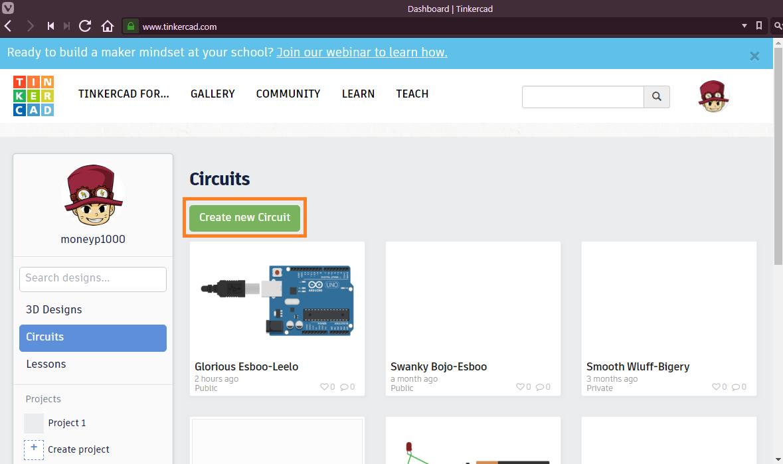 วิธี Simulation Arduino และวงจร ด้วย tinkerCAD ผ่านเว็บเบราว์เซอร์
